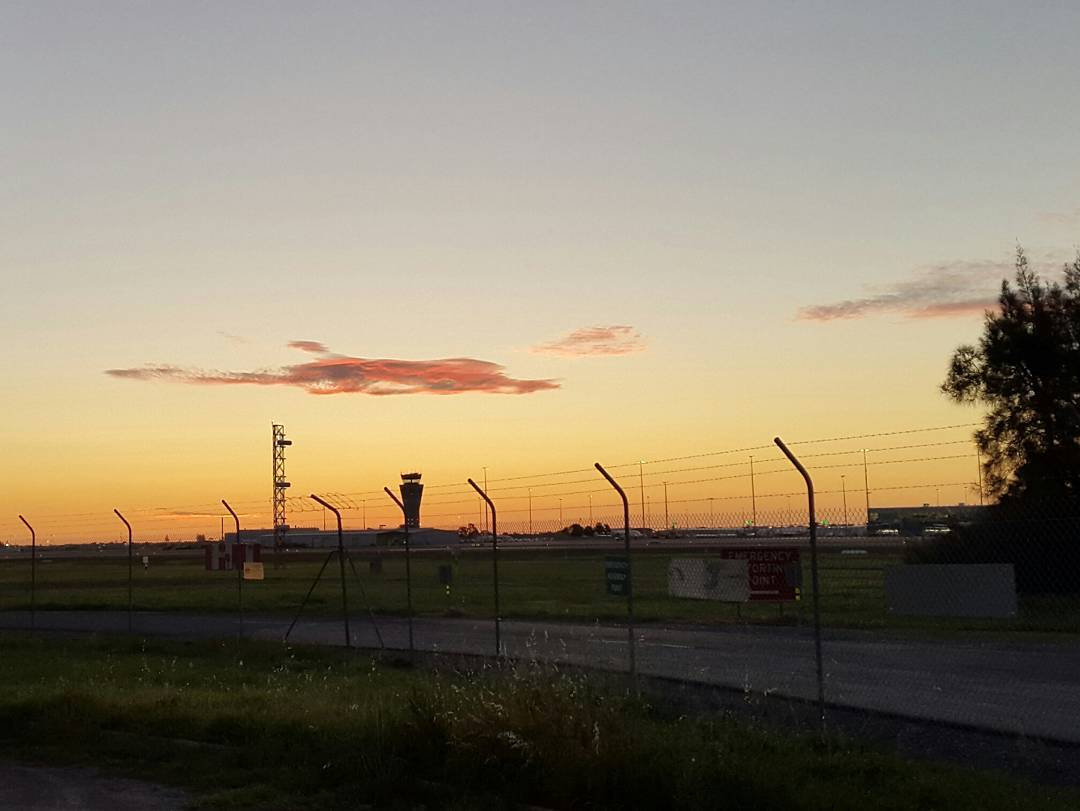 September Sunsets 1 of 3  Adelaide airport welcomes anhellip