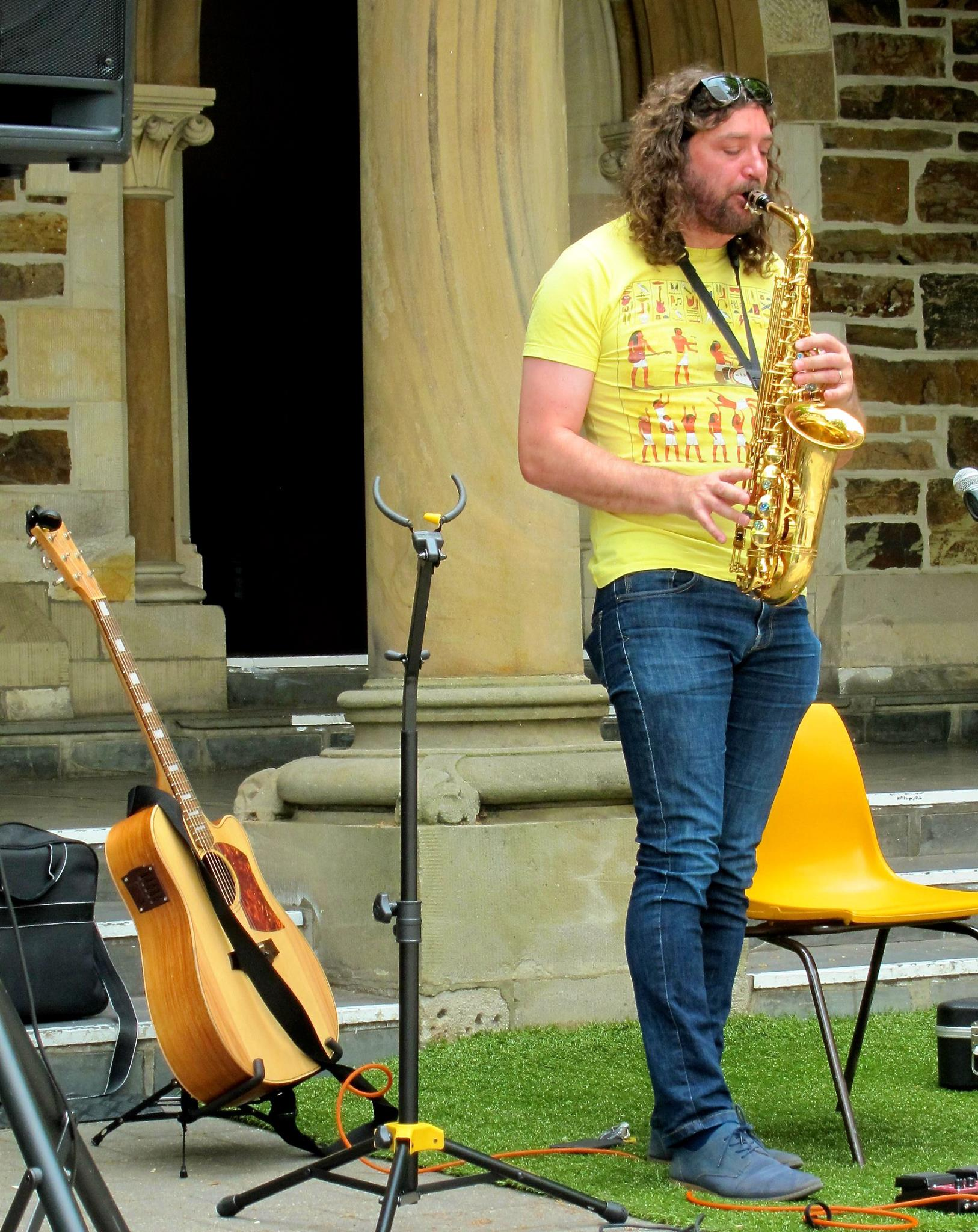 Ferg eventually got around to proving that the sax was not just a prop